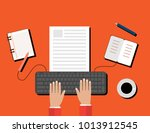 creative content  writing ... | Shutterstock .eps vector #1013912545