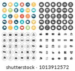 banking icons set | Shutterstock .eps vector #1013912572
