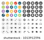 phone icons set | Shutterstock .eps vector #1013912596