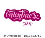 happy valentines day lettering... | Shutterstock .eps vector #1013923762