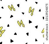 seamless pattern memphis style... | Shutterstock .eps vector #1013924875