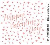 vector valentine day concept.... | Shutterstock .eps vector #1013925772