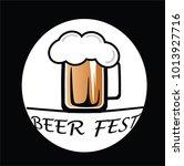 beer festival on black... | Shutterstock .eps vector #1013927716