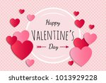 valentine's day   glossy card... | Shutterstock .eps vector #1013929228