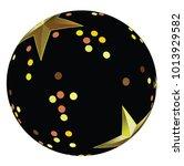black brush ball with golden... | Shutterstock .eps vector #1013929582