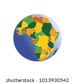africa  on a white background | Shutterstock .eps vector #1013930542