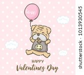 valentine's day card  cute... | Shutterstock .eps vector #1013930545