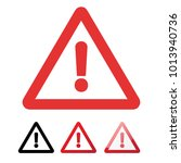 danger sign in flat design on... | Shutterstock .eps vector #1013940736