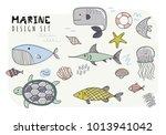 set of fishes. vector... | Shutterstock .eps vector #1013941042