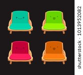 cartoon chairs with expressions ...