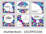 abstract vector layout... | Shutterstock .eps vector #1013952106