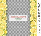 ripe grapefruit fruit vertical... | Shutterstock .eps vector #1013952148