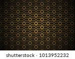 abstract gold pattern geometric ... | Shutterstock .eps vector #1013952232