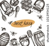 vector set with illustration... | Shutterstock .eps vector #1013954125