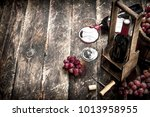wine background. red wine with... | Shutterstock . vector #1013958955