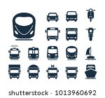 modern train icon. collection... | Shutterstock .eps vector #1013960692