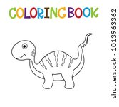 cute dino coloring book. | Shutterstock .eps vector #1013963362