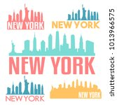 new york city usa flat icon... | Shutterstock .eps vector #1013966575
