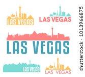 las vegas nevada usa flat icon... | Shutterstock .eps vector #1013966875