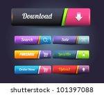 web elements vector button set | Shutterstock .eps vector #101397088