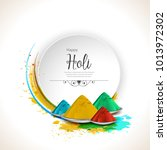 illustration of colorful happy... | Shutterstock .eps vector #1013972302