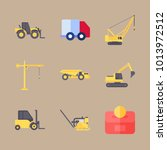 icons construction machinery... | Shutterstock .eps vector #1013972512