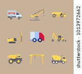 icons construction machinery... | Shutterstock .eps vector #1013972662