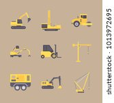 icons construction machinery... | Shutterstock .eps vector #1013972695