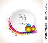 happy holi vector elements for... | Shutterstock .eps vector #1013972812