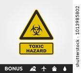 toxic hazard sign | Shutterstock .eps vector #1013985802