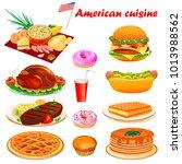 illustration set of american... | Shutterstock .eps vector #1013988562