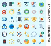 icons about marketing with... | Shutterstock .eps vector #1013989705