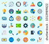 icons about marketing with...   Shutterstock .eps vector #1013989822
