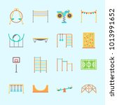 icons about amusement park with ... | Shutterstock .eps vector #1013991652