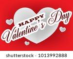 valentine's day sticker ... | Shutterstock .eps vector #1013992888