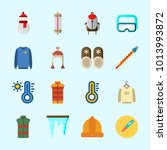 icons about winter with winter... | Shutterstock .eps vector #1013993872