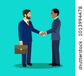 businessmans  shaking hands.... | Shutterstock .eps vector #1013994478