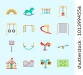 icons about amusement park with ... | Shutterstock .eps vector #1013994556