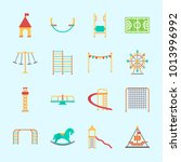 icons about amusement park with ... | Shutterstock .eps vector #1013996992