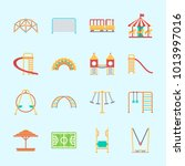 icons about amusement park with ... | Shutterstock .eps vector #1013997016