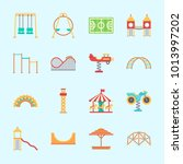 icons about amusement park with ... | Shutterstock .eps vector #1013997202