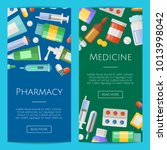 vector pharmacy or medicines... | Shutterstock .eps vector #1013998042