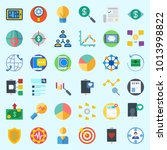 icons about marketing with...   Shutterstock .eps vector #1013998822