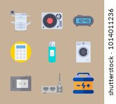 icons gadgets with battery ... | Shutterstock .eps vector #1014011236