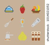 icon set about gastronomy with... | Shutterstock .eps vector #1014021052