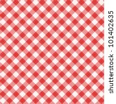 red and white gingham cloth... | Shutterstock .eps vector #101402635