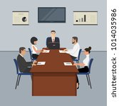 office workers during the...   Shutterstock .eps vector #1014035986