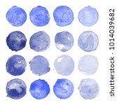 set of watercolor shapes.... | Shutterstock .eps vector #1014039682