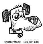 worried dog | Shutterstock . vector #101404138