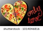 valentine love background with... | Shutterstock .eps vector #1014046816
